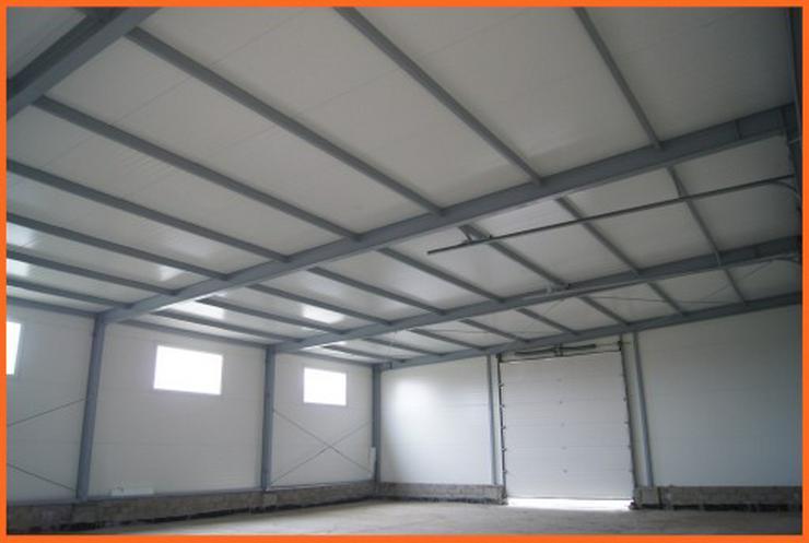 Bild 3: Stahlhalle Werkstatthalle Lager Logistikhalle Gewerbehalle 30m x 12m