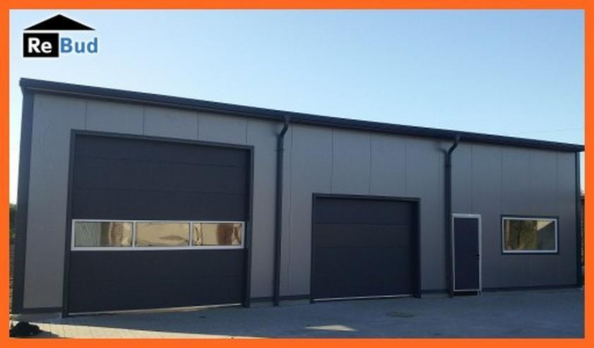 Bild 3: Gewerbehalle Stahlhalle Werkstatthalle mit Beurobereich