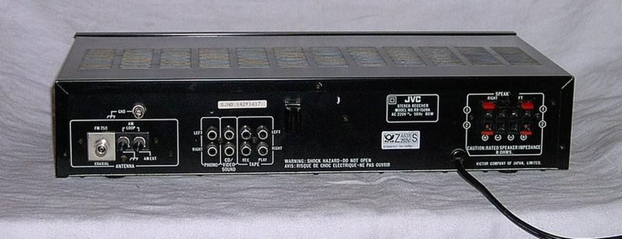 Bild 3: JVC-Receiver, Onkyo-Tuner, BSR-Plattenspieler