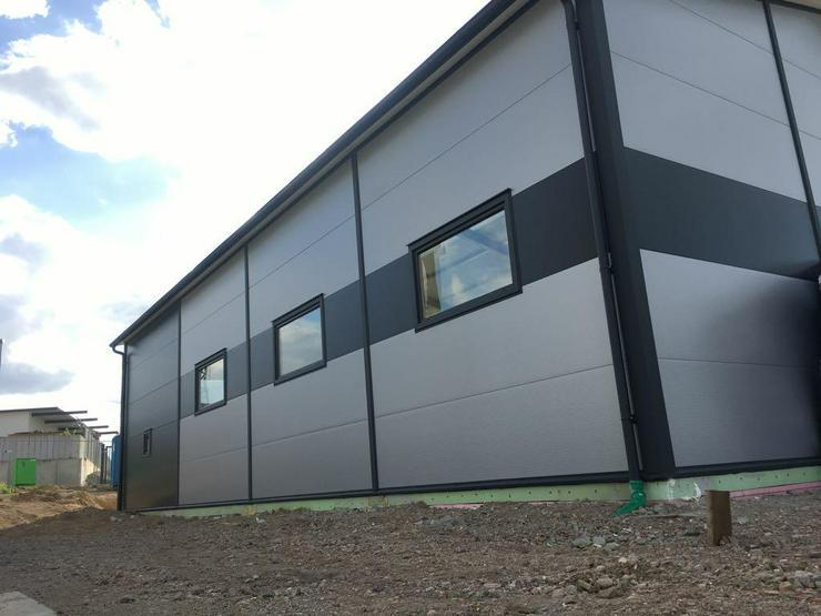 Bild 4: Stahlhalle Werkstatthalle Gewerbehalle Mehrzweckhalle mit Beurobereich