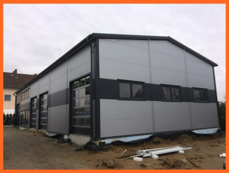 Bild 5: Stahlhalle Lagerhalle Gewerbehalle Werkstatthalle mit Beurobereich 28m x 12m