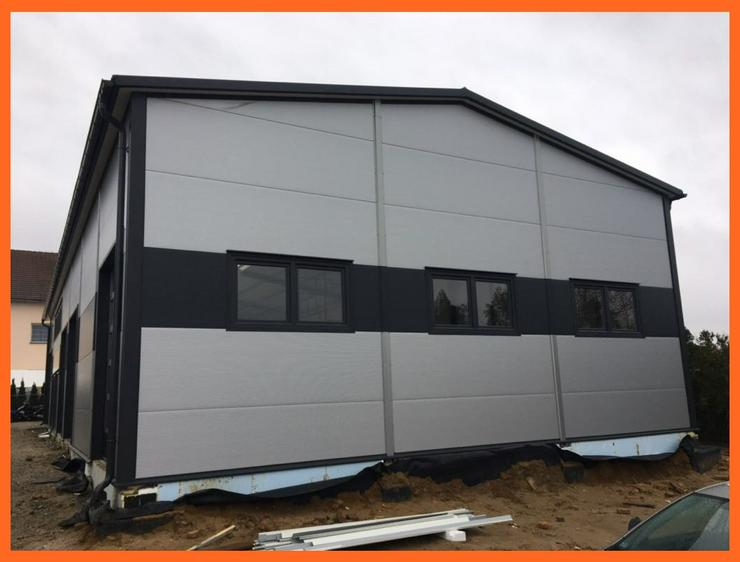Bild 4: Stahlhalle Lagerhalle Gewerbehalle Werkstatthalle mit Beurobereich 28m x 12m