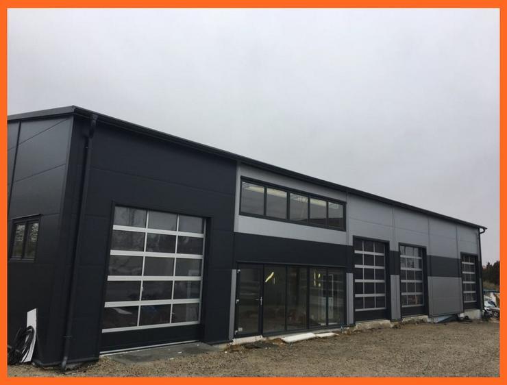 Stahlhalle Lagerhalle Gewerbehalle Werkstatthalle mit Beurobereich 28m x 12m