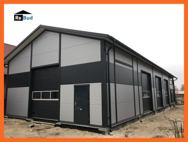 Mehrzweckhalle Stahlhalle Lagerhalle Gewerbehalle mit Beurobereich 25m x 10m