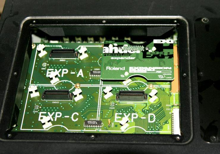 Bild 4: Roland Super JV 1080 mit Expansion und CARD