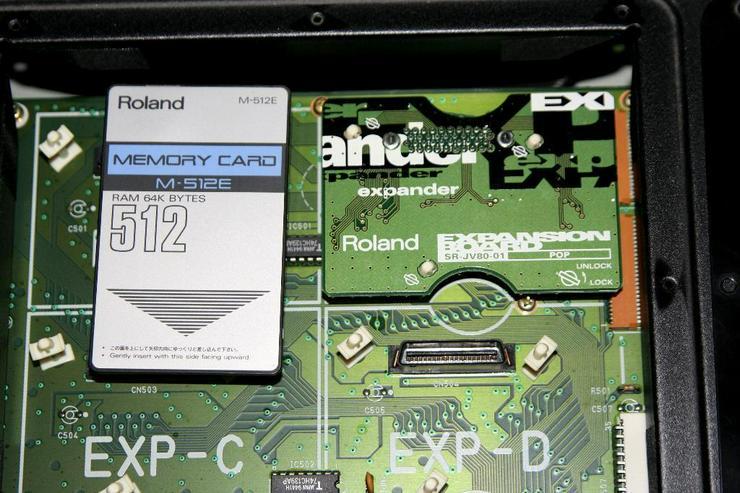 Bild 5: Roland Super JV 1080 mit Expansion und CARD