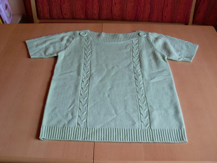 Damen Pullover kurzarm Gr.  42/44 grün - Bild 1