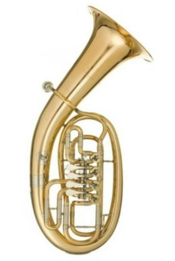 Melton Tenorhorn, Goldmessing, 4 Ventile NEU - Blasinstrumente - Bild 1