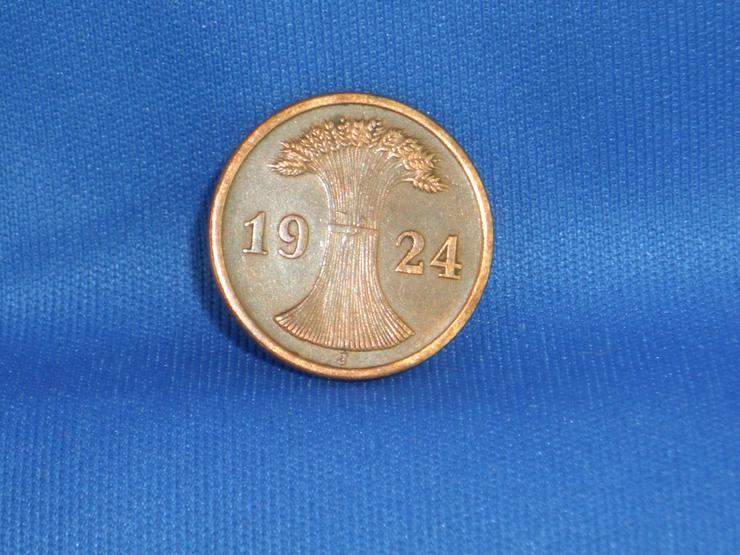 Bild 4: 2 Rentenpfennig  1924 j /  VERPRÄGUNG