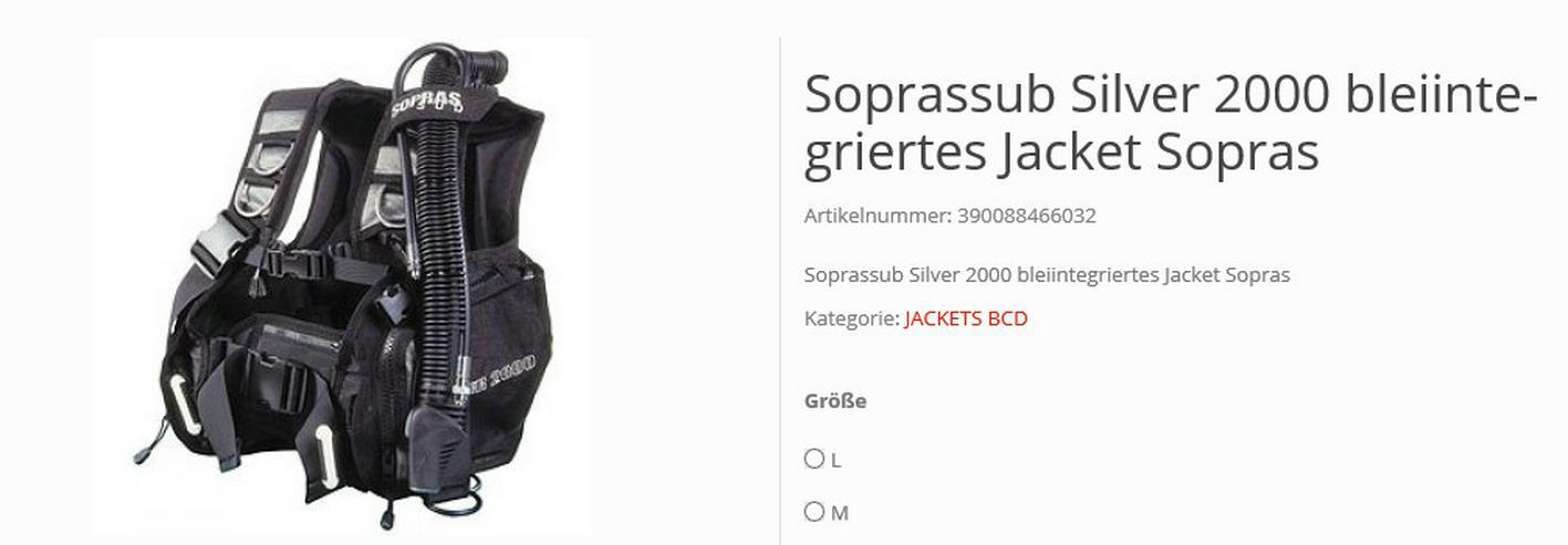 Tarierjacket Soprassub Silver 2000
