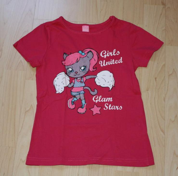 Mädchen Kurzarm T-Shirt Katze Kinder pink 116