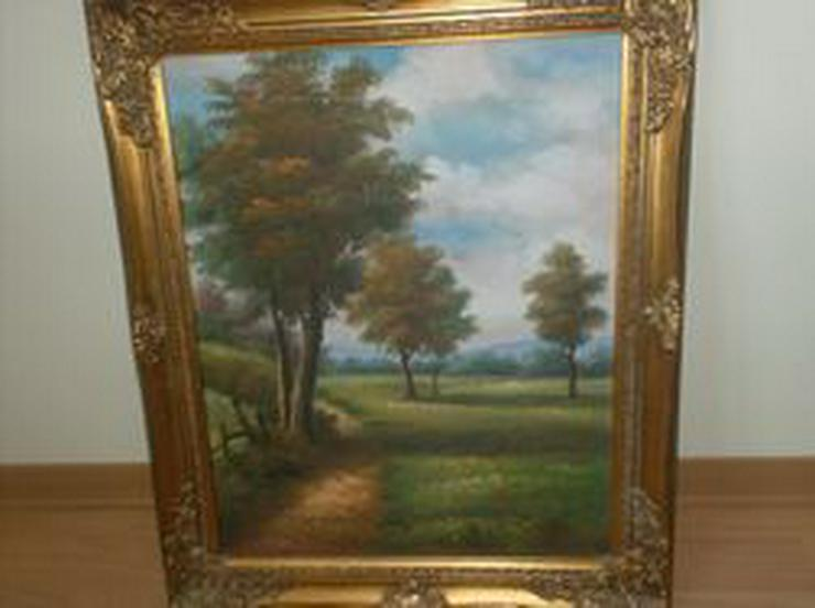 Naturbild mit goldfarbenem Rahmen - Gemälde & Zeichnungen - Bild 1