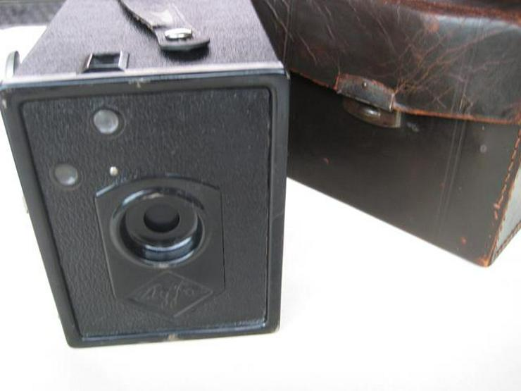 Agfa Box Kamera 6x9 Rollfilm mit Ledertasche