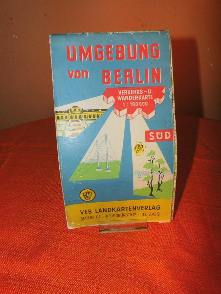 Alte Umgebungskarte von Berlin Hauptstadt der - Reiseführer & Geographie - Bild 1