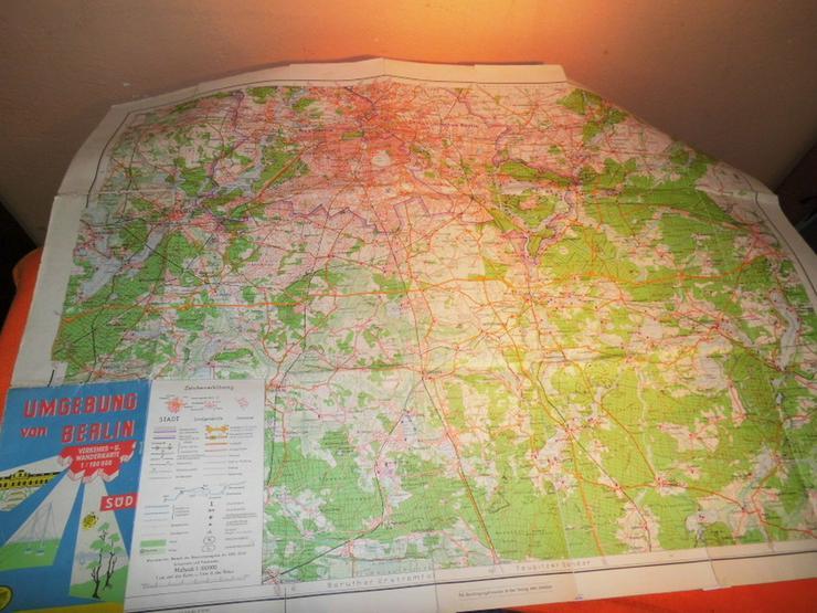 Bild 2: Alte Umgebungskarte von Berlin Hauptstadt der