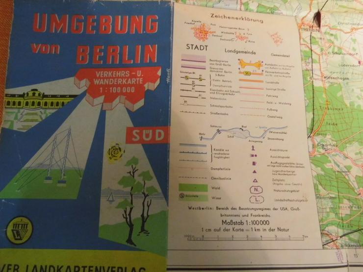 Bild 3: Alte Umgebungskarte von Berlin Hauptstadt der