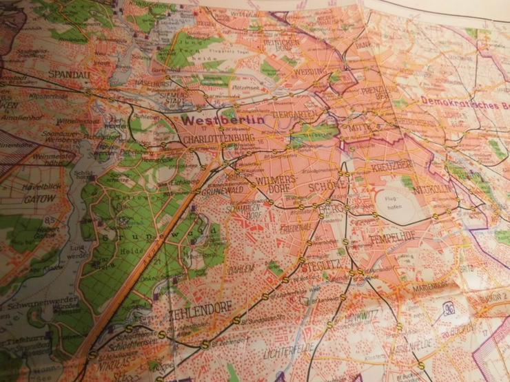 Bild 4: Alte Umgebungskarte von Berlin Hauptstadt der