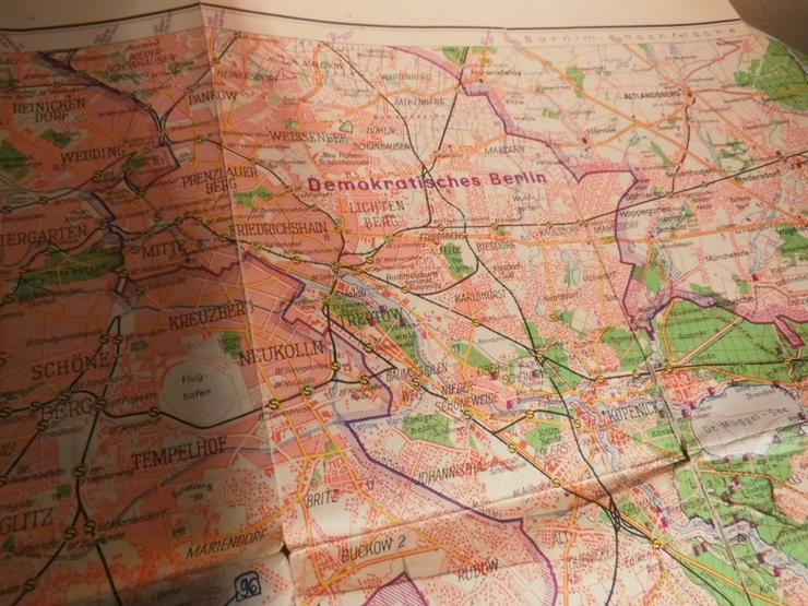 Bild 5: Alte Umgebungskarte von Berlin Hauptstadt der