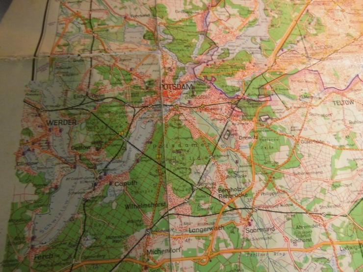 Bild 6: Alte Umgebungskarte von Berlin Hauptstadt der