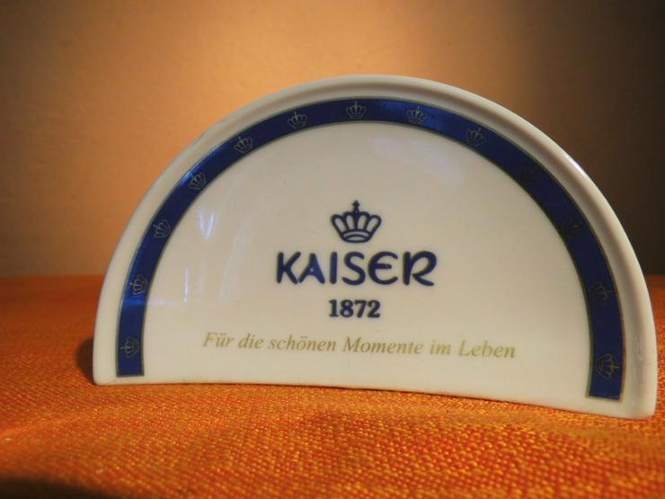 Werbeaufsteller KAISER Porzellan Aufsteller /