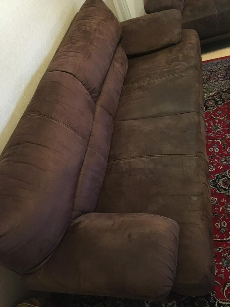 3 sitzer Couch - 2 sitzer Couch velour - Bild 1