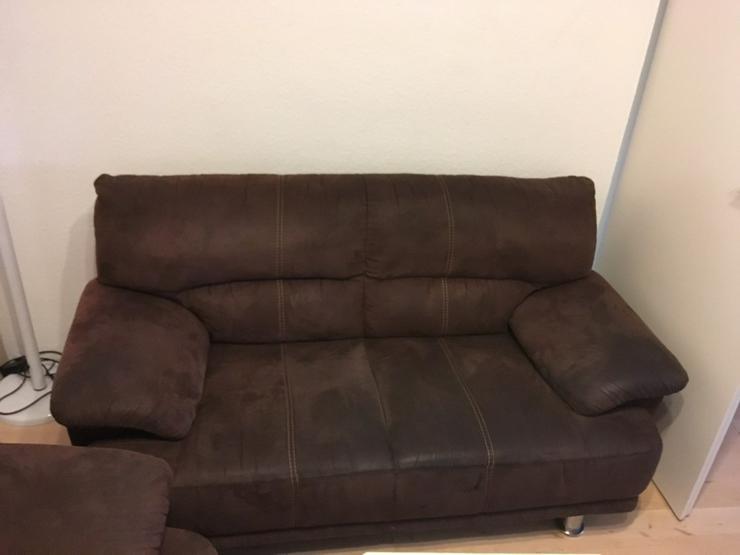 Bild 2: 3 sitzer Couch - 2 sitzer Couch velour