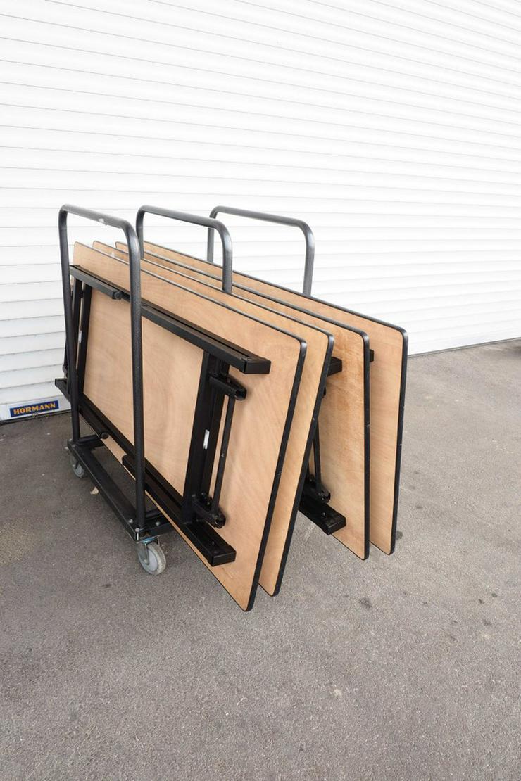 4 Banketttische klappbar mit Transportgestell