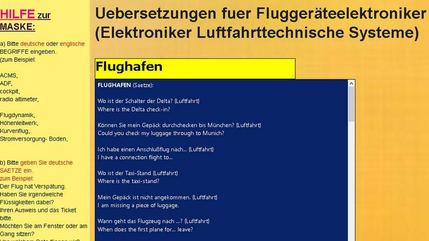 Flugzeug-Elektronik: de-englisch Woerterbuch