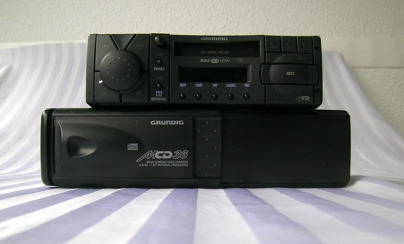 Grundig Autorad. EC7400 RDS + CD-Wechsler MCD36