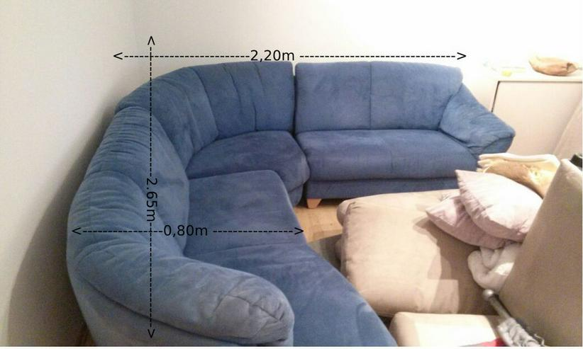 Gut erhaltenes Sofa blau -Selbstabholer
