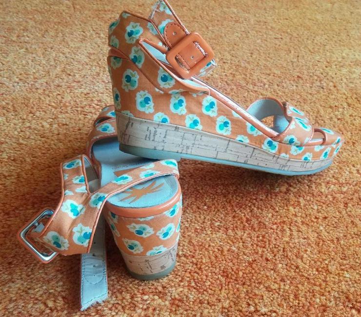 Damen Schuhe Plateau Sandalette Gr.38
