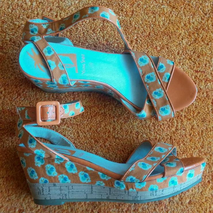 Bild 2: Damen Schuhe Plateau Sandalette Gr.38