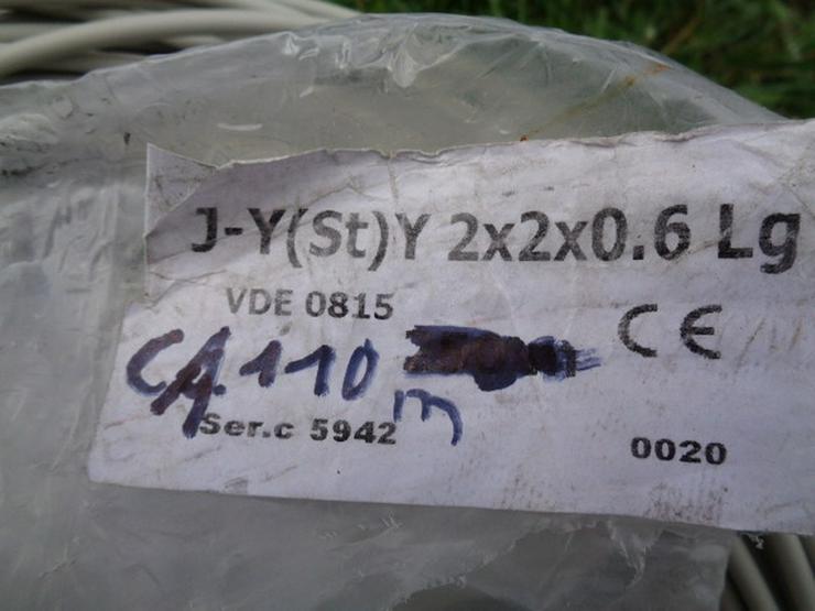 Bild 2: Kabel Rest ca. 110m J-y(st)y 2X2x0.6 Lg