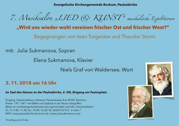 7 Musiksalon LIED und KUNST in Bochum