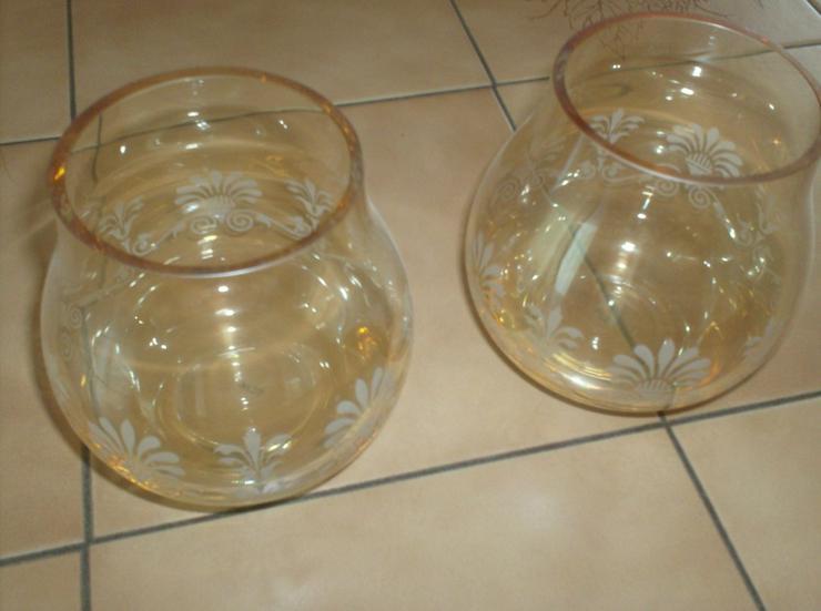 Bild 2: 2 schöne Teelichter aus Glas