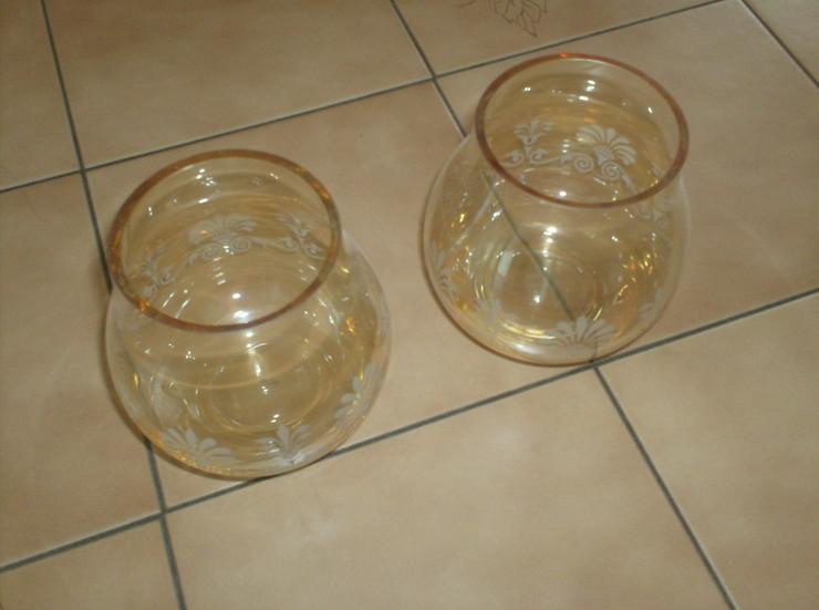 2 schöne Teelichter aus Glas