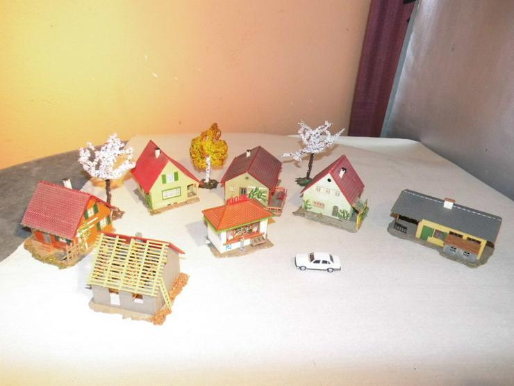 Kleines 7teiliges Dorf Modellbahn Spur H0 um 1