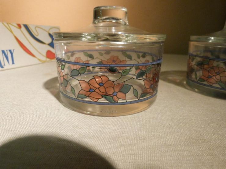 Bild 2: 2 Töpfchen mit Deckel aus Glas, Serie Tiffany