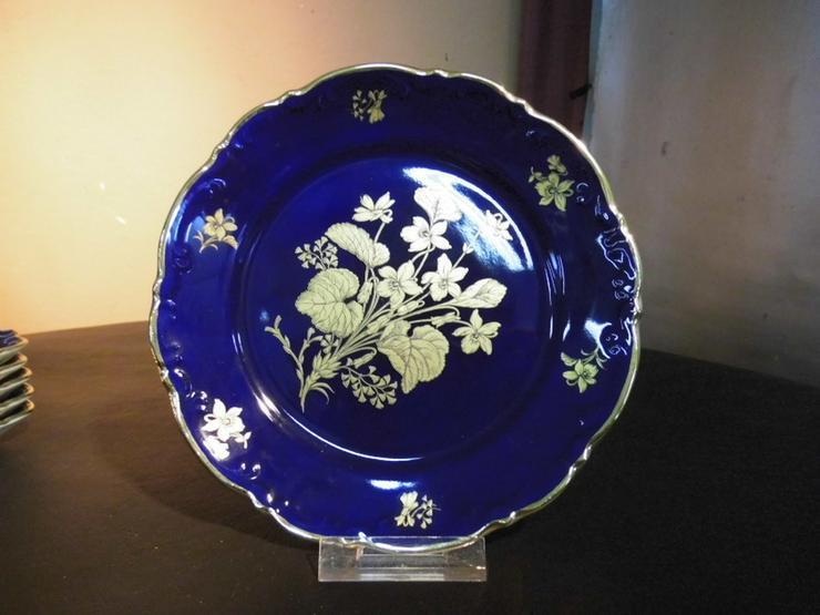 MITTERTEICH Kuchenteller 19,5cm / kobaltblau + - Kaffeegeschirr & Teegeschirr - Bild 1