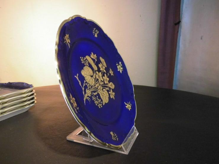 Bild 6: MITTERTEICH Kuchenteller 19,5cm / kobaltblau +