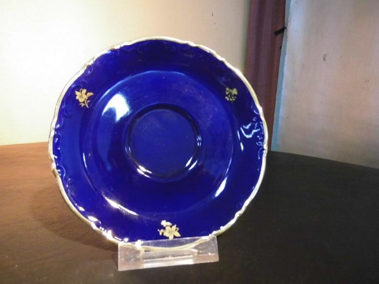 MITTERTEICH Untertasse 14,5cm / kobaltblau + G - Teller - Bild 1