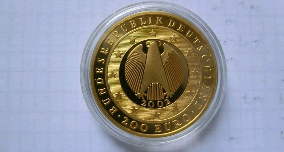 Bild 3: 200€ Goldmünze Prägestätte J
