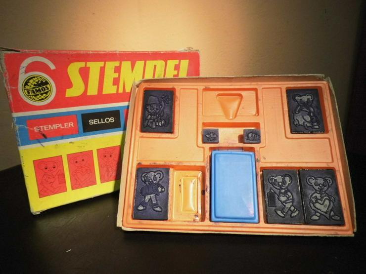 Bild 1: DDR Stempelspiel Teddybären Nr. 542 / VEB Famo