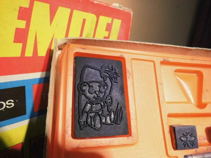 Bild 2: DDR Stempelspiel Teddybären Nr. 542 / VEB Famo