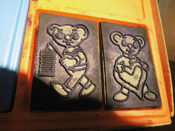 Bild 4: DDR Stempelspiel Teddybären Nr. 542 / VEB Famo