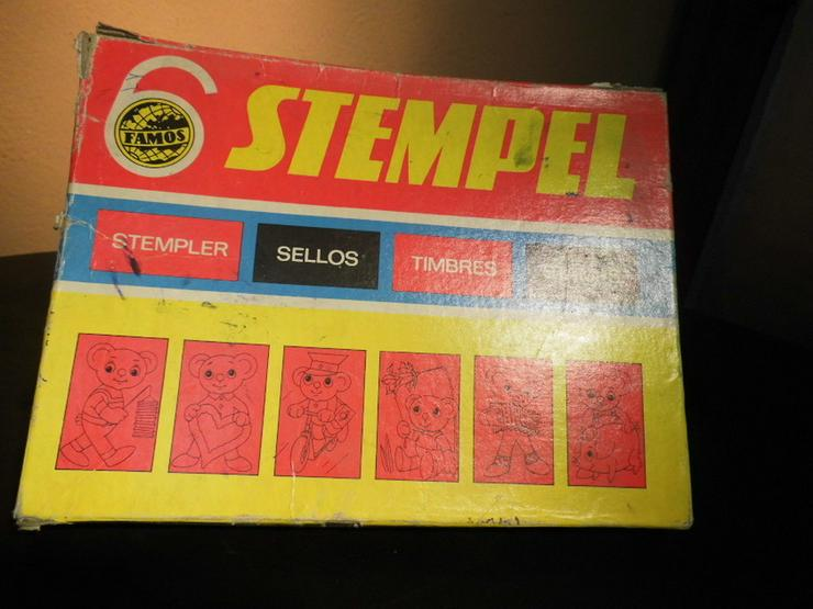 Bild 8: DDR Stempelspiel Teddybären Nr. 542 / VEB Famo