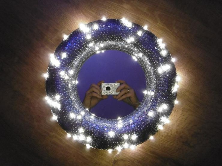 Paillettenbesetzter Spiegel LED-Beleuchtet - Figuren & Objekte - Bild 1