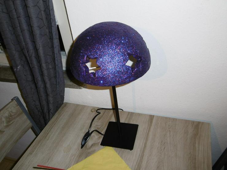 Tischlampe mit Sternenmuster,Unikat