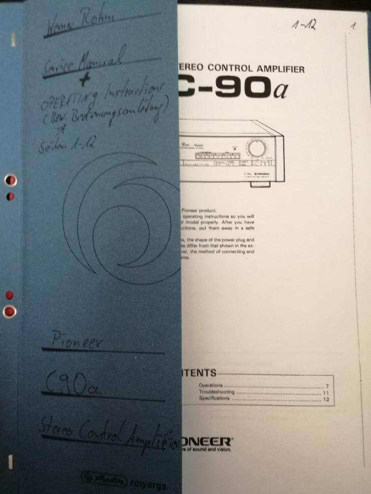 Bild 6: Pioneer , C-90a - M-90a und F-92 Tuner