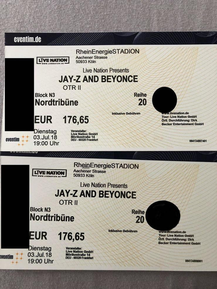 2 Karten Beyonce & JayZ OPR II Konzert in Köln